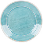 Carlisle 6400415 Grove 12 1/2 inch Aqua Round Melamine Charger Plate - 12/Case