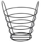 American Metalcraft BWB970 Round Black Wire Basket with Handles - 9 inch x 7 inch