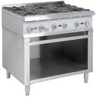 Cooking Performance Group 36RSBNL 6 Burner Gas Range / Hot Plate with Cabinet Base - 132,000 BTU