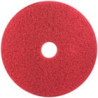 3M 5100 17 inch Red Buffing Floor Pad - 5/Case