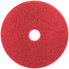 3M 5100 18 inch Red Buffing Floor Pad - 5/Case