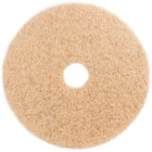 3M 3500 18 inch Natural Blend Tan Heavy Duty Burnishing Floor Pad - 5/Case