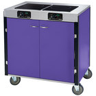 Lakeside 2075 Creation Express Mobile Cooking Cart with 2 Induction Burners, 1 Filtration Unit, and Purple Laminate Finish - 22 inch x 34 inch x 40 1/2 inch