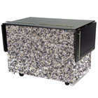 Lakeside 6850 Mobile Breakout Dining Station with Gray Sand Laminate Finish - 83 1/2 inch x 30 1/2 inch
