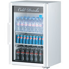 Turbo Air TGM-7SDW-N6 Super Deluxe White Countertop Display Refrigerator with Swing Door