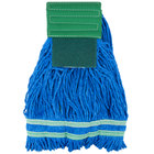 Small 15 oz. Microfiber String Mop with Scrubber and 5