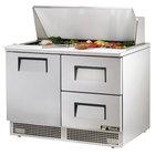 True TFP-48-18M-D-2 48 inch One Door / Two Drawer Sandwich / Salad Prep Refrigerator
