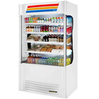 True TAC-48SM-LD White Vertical Air Curtain Merchandiser Refrigerator with LED Lighting