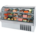 Beverage Air CDR6/1-S-20 Stainless Steel Finish Curved Glass Refrigerated Bakery Display Case 73 inch - 27.6 Cu. Ft.