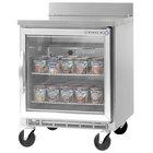 Beverage-Air WTF24A-25-LED 24'' Single Glass Door Worktop Freezer - 7 cu. ft.