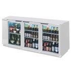 Beverage-Air BB72HC-1-G-PT-S 72 inch Stainless Steel Underbar Height Glass Door Pass-Through Back Bar Refrigerator