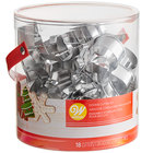 Wilton 2308-5454 18 Piece Stainless Steel Holiday Cookie Cutter Set
