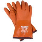 Extra Large 12 inch Red Freezer / Frozen Food Textured PVC Gloves