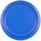 Creative Converting 503147B 10 inch Cobalt Blue Round Paper Plate   - 240/Case