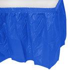 Creative Converting 743147 14' x 29 inch Cobalt Blue Plastic Table Skirt
