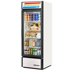 True GDM-23-HC-LD White Glass Door Refrigerated Merchandiser with LED Lighting