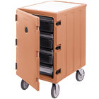Cambro 1826LBC157 Camcart Coffee Beige Single Compartment Mobile Cart for 18 inch x 26 inch Food Storage Boxes