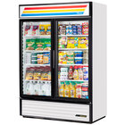 True GDM-49-HC-LD White Glass Door Refrigerated Merchandiser with LED Lighting