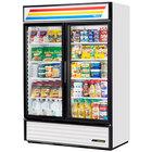 True GDM-49-HC-LD White Glass Door Refrigerated Merchandiser with LED Lighting