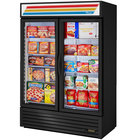 True GDM-49F-HC~TSL01 Black Glass Door Merchandiser Freezer with LED Lighting
