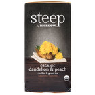 Steep By Bigelow Organic Dandelion and Peach Tea   - 20/Box