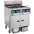 Pitco SELV14C2/14T/FDP Solstice 90 lb. Reduced Oil Volume Electric Fryer System with 1 Split Pot Unit, 2 Full Pot Units, and Push Button Top Off - 240V, 1 Phase, 51 kW
