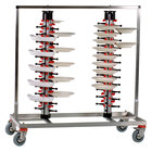 Plate Mate PM96-160 Twin Mobile Plate Rack Holds 96 Plates 49 1/2 inchH