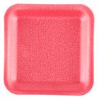 Genpak 1001S (#1S) Foam Meat Tray Rose 5 1/4 inch x 5 1/4 inch x 1/2 inch   - 125/Pack