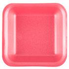 Genpak 1001 (#1) Foam Meat Tray Rose 5 1/4 inch x 5 1/4 inch x 1 inch - 125/Pack