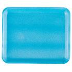 Genpak 1012S (#12S) Foam Meat Tray Blue 11 1/4 inch x 9 1/4 inch x 1/2 inch - 125/Pack