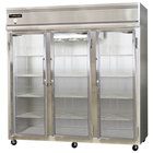 Continental Refrigerator 3RE-GD 85 inch Three Section Extra Wide Glass Door Reach-In Refrigerator - 73 cu. ft.