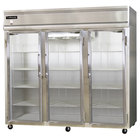 Continental Refrigerator 3FE-GD 85 inch Three Section Extra Wide Glass Door Reach-In Freezer - 73 cu. ft.