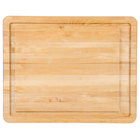 Tablecraft CBW20161L 20 inch x 16 inch x 1 inch Wood Grooved Cutting Board with Non-Slip Legs
