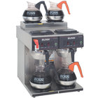 Bunn 23400.0001 CWTF 2/2 Twin 12 Cup Automatic Coffee Brewer with 2 Upper and 2 Lower Warmers - 120/240V