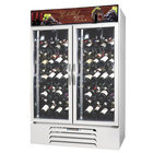 Beverage-Air MMRR49-1-W-LED MarketMax 52 inch White Two Section Dual Temperature Glass Door Wine Merchandiser - 49 Cu. Ft.
