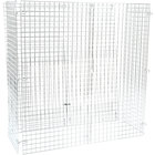 Regency NSF Chrome Wire Security Cage - 24 inch x 60 inch x 61 inch