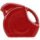 Homer Laughlin 475326 Fiesta Scarlet 5 oz. Mini Disc China Creamer Pitcher - 4/Case
