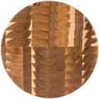 Tablecraft ACARD14 Acacia Wood End Grain Chopping Block Serving Board - 14