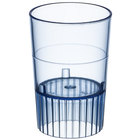 Fineline Quenchers 4110-BL 1 oz. Neon Blue Hard Plastic Shooter Glass - 10/Pack