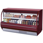 Turbo Air TCDD-72-2-L 72 inch Red Low Profile Curved Glass Refrigerated Deli Case