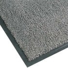 Notrax T37 Atlantic Olefin 4468-131 4' x 10' Gunmetal Carpet Entrance Floor Mat - 3/8 inch Thick