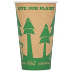 EcoChoice 16 oz. Kraft Compostable and Biodegradable Paper Hot Cup - 50/Pack