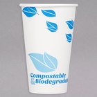 EcoChoice 16 oz. Leaf Print Compostable and Biodegradable Paper Hot Cup - 1000/Case