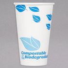 EcoChoice 16 oz. Leaf Print Compostable Paper Hot Cup - 1000/Case