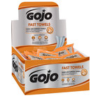 GOJO® 6280-04 Fast Towels Hand Cleaning Wipes 80 Count Display Carton - 4/Case