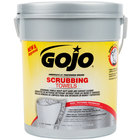GOJO&#174&#x3b; 6396-06 Scrubbing Towels Heavy Duty Wipes 72 Count Canister   - 6/Case