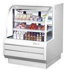 """Turbo Air TCDD-48-2-H 48"""" White Curved Glass Refrigerated Deli Case - 13.9 cu. ft."""