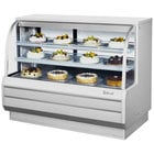 Turbo Air TCGB-60-DR White 60 inch Curved Glass Dry Bakery Display Case