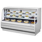 Turbo Air TCGB-72-DR White 72 inch Curved Glass Dry Bakery Display Case