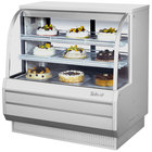 Turbo Air TCGB-48DR-W-N White 48 inch Curved Glass Dry Bakery Display Case
